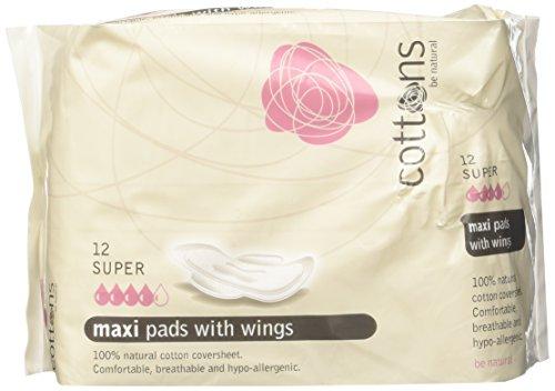 Cottons Compresa Maxi Alas Super Algodón 100% - 12