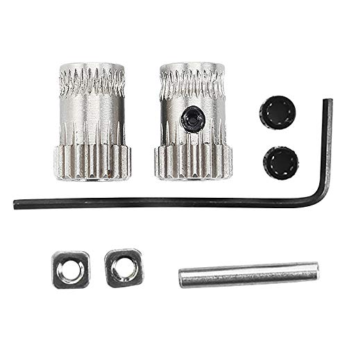 TOOGOO 1 Juego Engranaje De Unidad Mk3 Impresora 3D Kit De Doble Engranajes De Extrusor Engranajes De Unidad Rueda De Extrusión para Actualización Prusa I3 Mk2 / Mk2S / Mk2.5 Impresora 3D