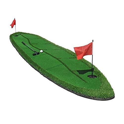 Übungsmatte Für Golfmatten - Willow Leaf Design Tragbare Übungs- / Trainingsmatte Putting Green Golf-Schlagmatten Golfmatte Für Innen- Und Außenbereiche Mit Simulationshindernissen - 300 × 70 Cm Sport