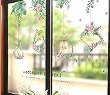 Tea Shop Glastür Aufkleber Fenster Blume Aufkleber 3D dreidimensionale Küche Balkon Glas Fenster Dekoration Pflanze Aufkleber Collage gut 135 * 86cm