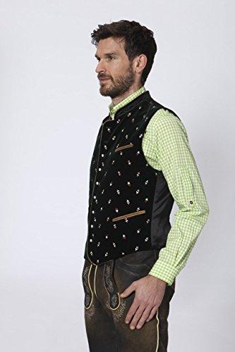 Stockerpoint - Herren Trachten Weste in verschiedenen Farbtönen, Calzado, Größe:52, Farbe:Tanne - 3