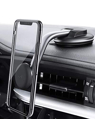 Aukey porta cellulare auto magnetico 360 gradi di rotazione cruscotto supporto smartphone auto universale per iphone xs/xs max, samsung galaxy s10+, huawei e gps dispositivi