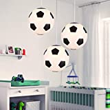 Plafonnier Football, Lustre Chambre Enfant Lot de 1, éclairage intérieur, Lampe de Salon Chambre, Conçu pour les fans de foot