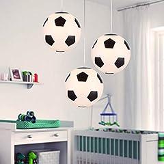 Idea Regalo - Lampadario di Calcio, Plafoniera da Calcio Lampadari Creativa per Camera da dei Appassionati di Calcio, 25cm di diametro, E27, lampadina non inclusa