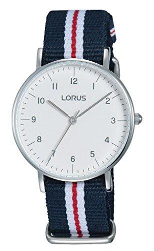 Lorus Reloj Analógico para Mujer de Cuarzo con Correa en Tela RH805CX9