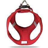 CURLI Brustgeschirr Plush Vest AIR-MESH red für Hunde L (46 – 52 cm) - 4