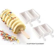 SET 2 molde helado / FINGER FOOD IN SILICONA TANGO + 50 BARRITAS UDG SILIKOMART MOLDE