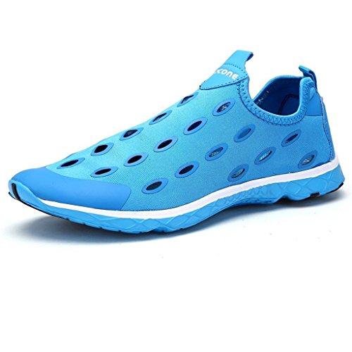 Oriskey Chaussons pour Sport Aquatique Aqua Chaussures nautiques de plage et deau de randonnée pour homme Bleu