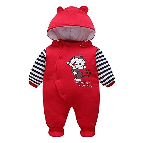 (Mädchen Jungen Unisex Overall Tier Cartoon Hoodie Spielanzug Outfits Kleidung Baby Kinder/Herbst Winter Kleidung Säugling)