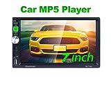 REAKOSOUND radio coche7 pulgadas de pantalla táctil capacitiva radio 2 din MP5 Reproductor con Bluetooth, radio FM/AM/RDS control del volante