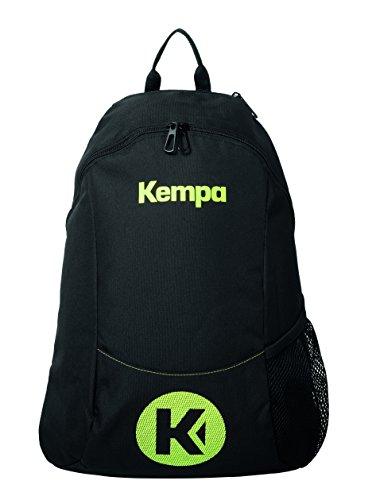 Kempa Unisex-Erwachsene Caution Rucksack, Schwarz (Negro/Amarillo Fluor), 24x36x45 centimeters