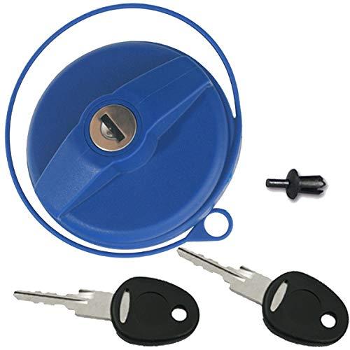 Tankdeckel Wassertankdeckel Wasser Trinkwasser Wohnwagen Wohnmobil blau mit Zylinder und Schlüssel -