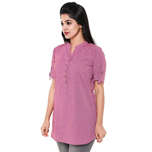 BLOSSOM Women's Tunic and TOP (Pink, L)