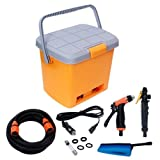 PORTABLE HIGH PRESSURE AUTOMATIC 12 V CAR WASHER WITH POWER GUN & BRUSH