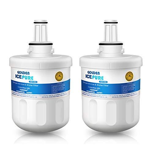 Kühlschrank Wasserfilter kompatibel mit Samsung DA29-00003G, Aqua Pure Plus Hafin, DA29-00003B, DA29-00003A, DA97-06317A 2 Pack by GOLDEN ICEPURE