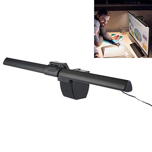 Vuffuw Screenbar E-Reading Lampe, WooyMo USB Powered Eye-Care LED-Arbeitsplatzleuchte mit 3 Stufen Dimmeinstellung, Schwarze Bürolampe -