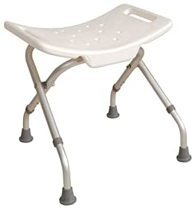 NRS Healthcare L97729 Portable Shower Stool - FOLDABLE (Eligible for VAT relief in the UK)