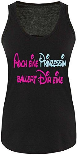 Luckja Auch eine Prinzessin ballert dir eine Damen Tanktop (Bonnie Und Clyde Kostüme Für Kinder)