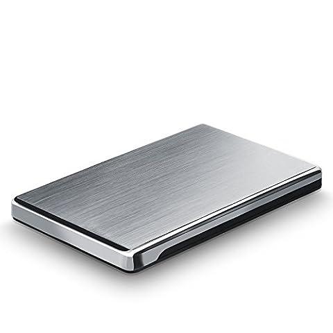CSL - USB 3.0 Boîtier de disque durs externes | Super Slim | Screwless Design | pour disques durs S-ATA III 2.5