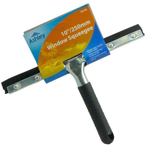 25,4cm/250mm Squeegee Wischer-Double Edge Messer aus Gummi robust-leicht Griff aus Kunststoff mit Aufhängeloch confezione da 1 schwarz (Double Edge Messer)