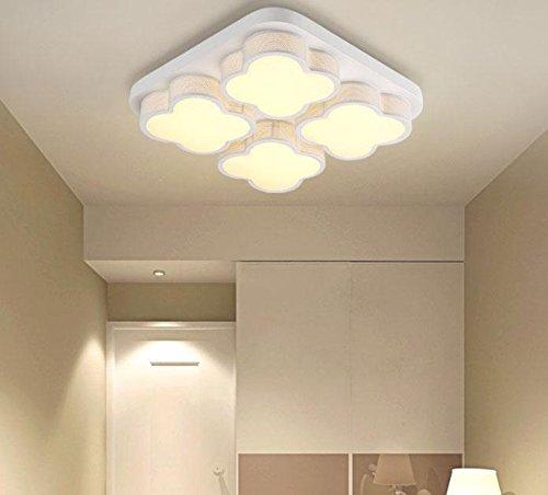 LED Deckenleuchten/Modern Minimalist Eisen Acryl Hängende Deckenleuchte/White Square Cloud 4 Lampe Deckenleuchte/Decke Schlafzimmer Licht/Decke Restaurant/Bright / White Light Fixture, Weißes Licht -