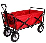 Folding camping multi-function shopping cart R-2022, red shopping trolley