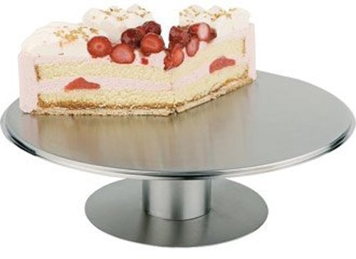 Paderno World Cuisine Stainless Steel Revolving Cake Stand, 12-1/8-Inch by Paderno World Cuisine -