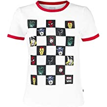 Vans Marvel Avengers Ringer tee Camiseta Mujer Blanco-Rojo 5cbbaebc7be6c