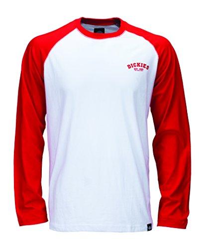Dickies Herren Langarmshirt Streetwear Male T-Shirt Baseball rot (Fiery Red) Large