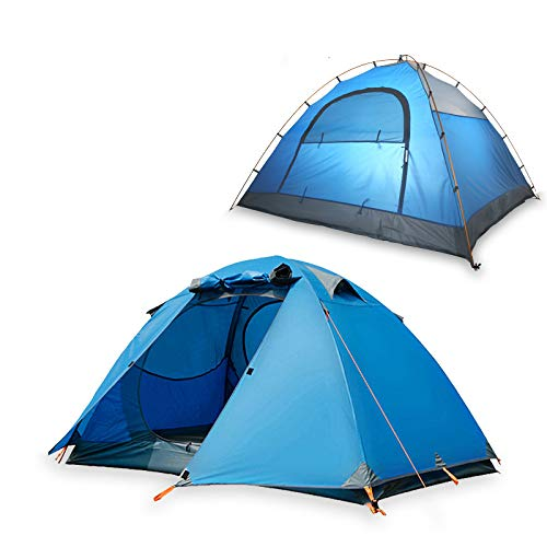 Spfree Kuppelzelt 4 Personen, Zelte 4 Jahreszeiten Kuppelzelt Outdoor Campingzelt Iglu-Zelt,doppelschichtig Wasserdichtes