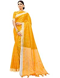 ANNI DESIGNER Linen Saree with Blouse Piece