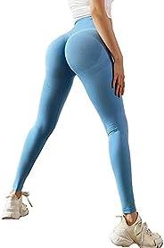 Yoga Shorts High Waist Leggings Sport Pants Seamless Tummy Control Butt Lift Stretchable Tights Waist Compress