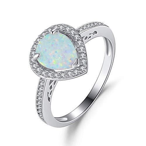 pfen aus Silber 925 für Damen Ring Solitär Verlobungsring - Größe 54 mm ()