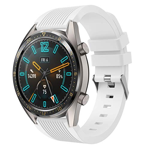 LiXiangFa for Huawei Watch GT Straps, 22MM Quick Release Soft Silicone Replacement Strap for Samsung Gear S3 Frontier/Classic,Galaxy Watch 46mm