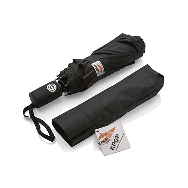 K-POP Umbrella - Windproof Umbrellas Black 2