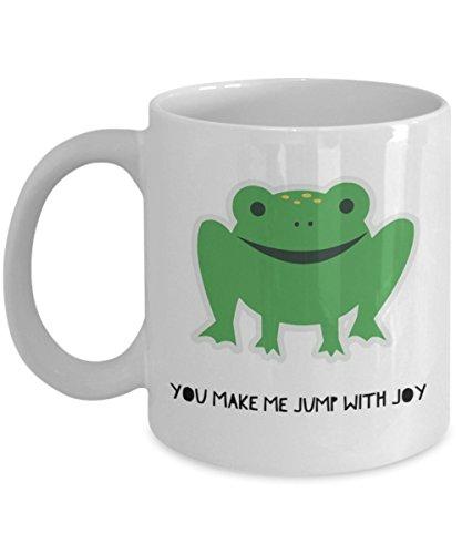 Toby Tee (Am Joy Mug-Frosch Tassen, Prime -, die Sie mir Jump mit Freude-Funny Kaffeetasse für Frauen Herren von trendige Gifts 11oz weiß)