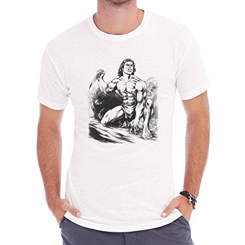 Tarzan By Huy Truong Herren T-Shirt Weiß