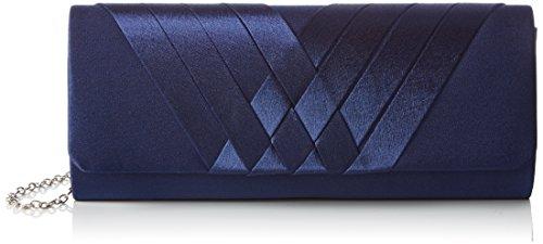 Bulaggi Damen Suka clutch Dunkel Blau 43), 26x10x5 cm - Satin Damen Abend Tasche