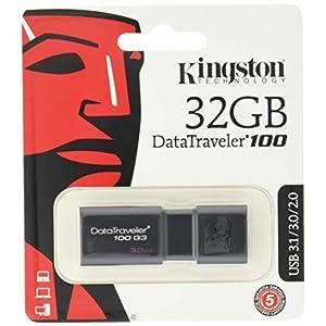 Kingston DataTraveler 100 G3-DT100G3/32GB USB 3.0, PenDrive, 32 GB, 1 Pezzo, Nero 2 spesavip