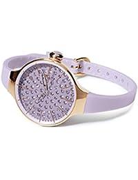 HOOPS Uhren Cherie diamond Damen lila 2483lgd-10
