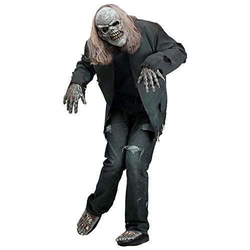 Instant Zombie Kit Halloween Fancy Dress Costume With Mask, Gloves & Feet