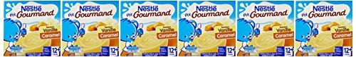 Nestlé Bébé P'tit Gourmand Vanille Caramel Laitâge dès 12 mois 4 x 100g - Lot de 6