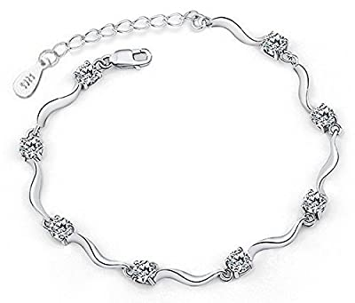 Yellow Chimes Silver Bracelet for Women