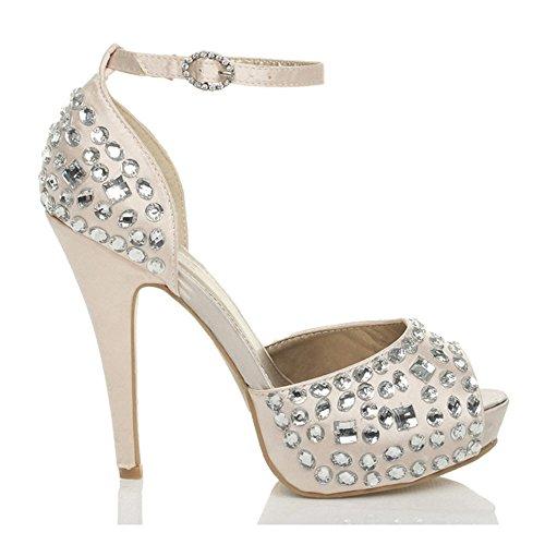 Top Sandali Scarpe da Donna Tacco Alto Pumps 8535 BIANCO 37