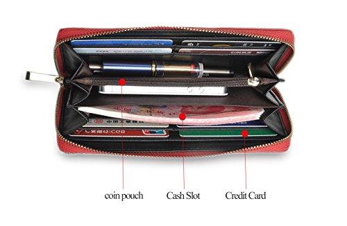 Borsa di credito della borsa delle signore della holding della carta del raccoglitore di Cluth della borsa di lusso di grande capacità di blocco delle donne di (Color-01) Color-01