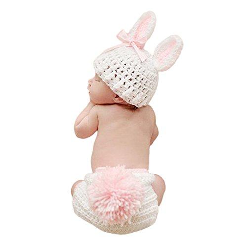 MIOIM® Bebé Recién Nacido Infantil Lindo Conejo de Punto de Ganchillo del Bebé Sombrero Traje de la Foto Disfraz Fotografía Memorias Regalo