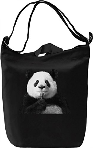 Singing Panda Leinwand Tagestasche Canvas Day Bag| 100% Premium Cotton Canvas| DTG Printing|
