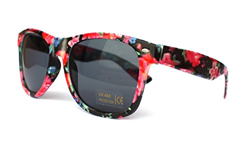 50er 60er 80er 90er Jahre Vintage Sonnenbrille Sommerbrille Clubmaster Style Rockabilly Trend 2017 2018 Mode Fashion Fashionbrille Designer Brille rot Blumen