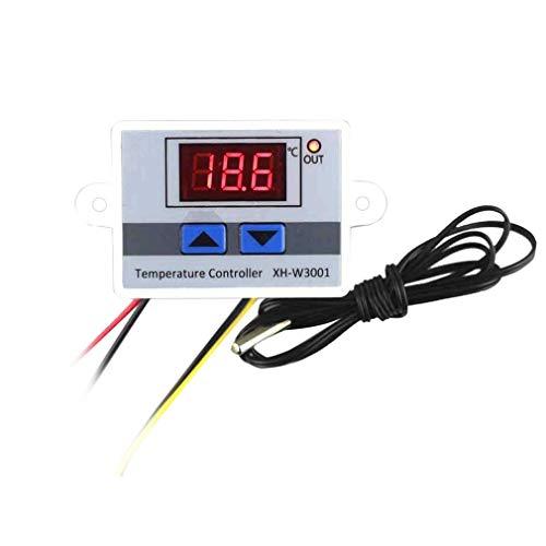 LeoboodeDigital LED-Temperaturregler Thermostatschalter Wasserdichter Sondenkabelanschluss Hochempfindlicher Temperatursensor -