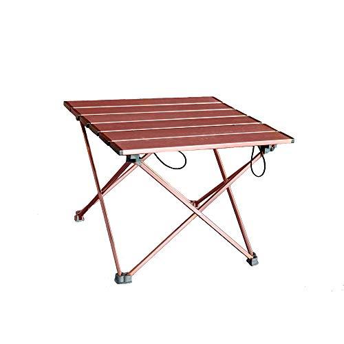 ANPI Aluminium Tragbarer Camping Tisch, Ultraleicht Zusammenklappbar mit Tragetasche, Roll up Klapptisch für Picknick, Camping, Wandern, Reisen, Angeln, Strand, Grill - Tisch Frame